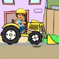 Диего на тракторе